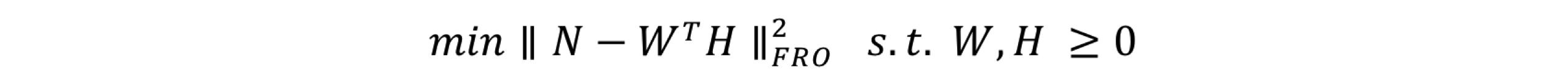 図2 フロベニウスノルムの最小化