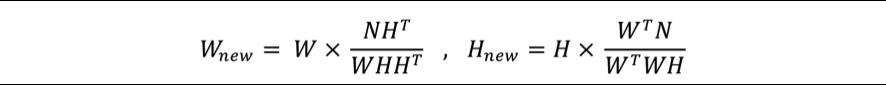 図3 乗法的更新ルールの式